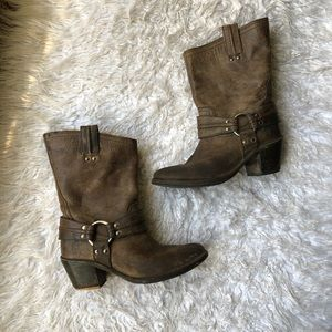 FRYE Buckle Boots 8